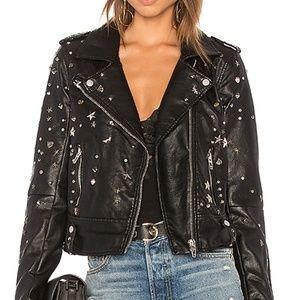 Blank NYC Studded Moto Leather Jacket